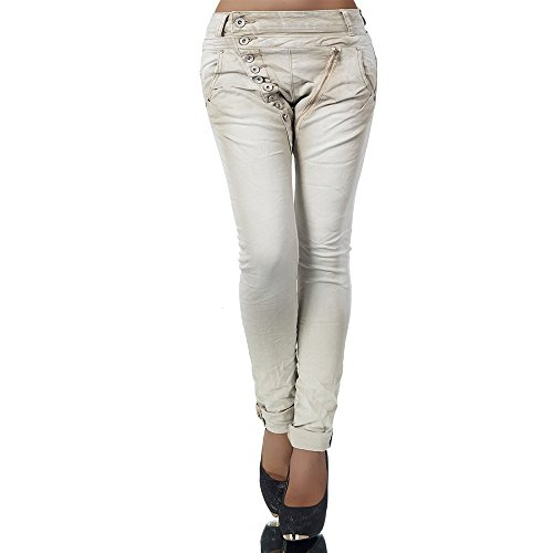 Damenjeans Baggy Chino Beige
