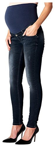 Noppies Damen Umstandsmode Hose Skinny Slim Fit (Röhre) Aged Blue