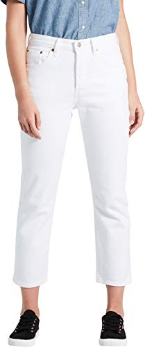 Levi's Damen 501 Crop Straight Jeans Weiß In The Clouds