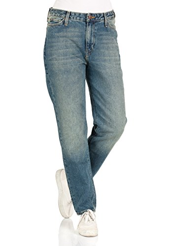 Lee Damen Jeans Mom Straight Fit Blau Dusk Vintage