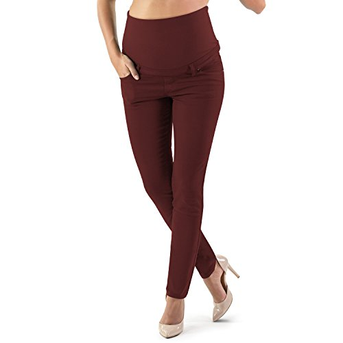 MAMAJEANS Milano - Skinny Fit Umstandsjeans Jeggings Rot Bordeaux