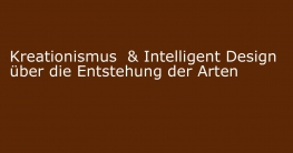 kreationismus intelligent design entstehung der arten