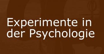psychologie experimente methode