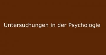 psychologie naturwissenschaftliche untersuchungen