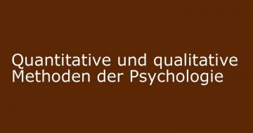 psychologie quantitative qualitative methoden