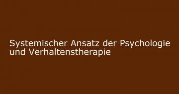 systemischer ansatz psychologie verhaltenstherapie