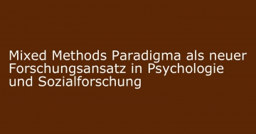mixed methods paradigma