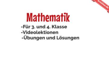 mathematik 3 und 4 klasse videolektionen übungen lösungen